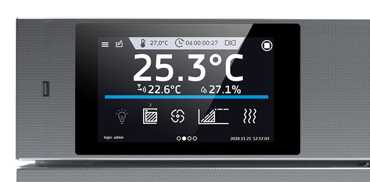 ekran sterownika SMART-PRO produkcji POL-EKO-APARATURA