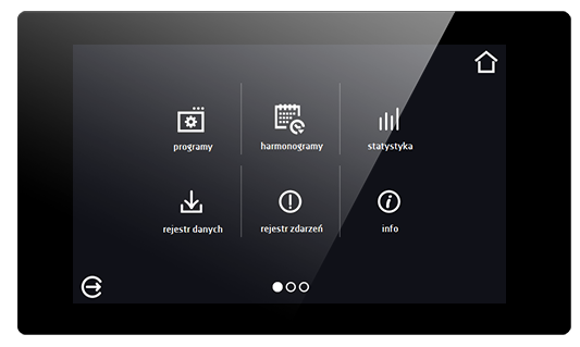 smart pro controller for pol-eco-aparatura production - main menu view